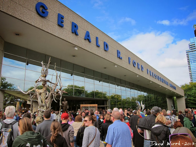 gerald r ford museum, grand rapids, river, art