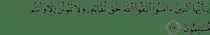 Surat Ali Imran Ayat 102