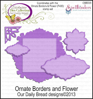 Dies - ODBD Custom Ornate Borders and Flower
