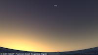 Poszukiwanie Gwiazdy Betlejemskiej - Wega, najjaśniejsza wówczas gwiazda na niebie świecić będzie wysoko na niebie zachodnim, nieco w prawo od najjaśniejszego obszaru nieba wyznaczającego miejsce zachodu Słońca. Mimo jasności Wega może okazać się trudna w dostrzeżeniu z uwagi na przebywanie na zachodniej części nieboskłonu, która będzie rozświetlana w większym stopniu od przeciwnej północno-wschodniej i wschodniej.