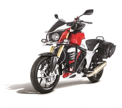 2016 Mahindra Mojo Tourer Edition red & white image
