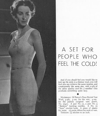The Vintage Pattern Files: Free 1930's Knitting Pattern - Vest and Panties