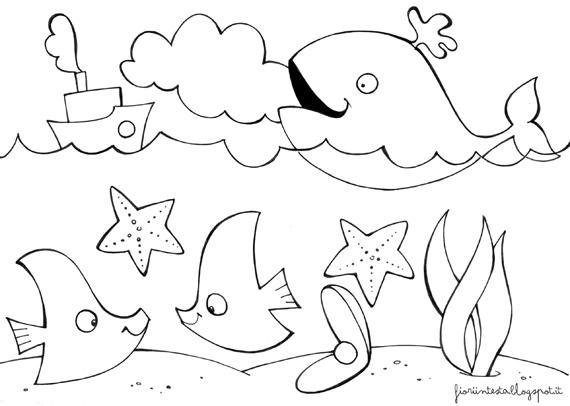 Disegni Da Colorare Animali Del Mare