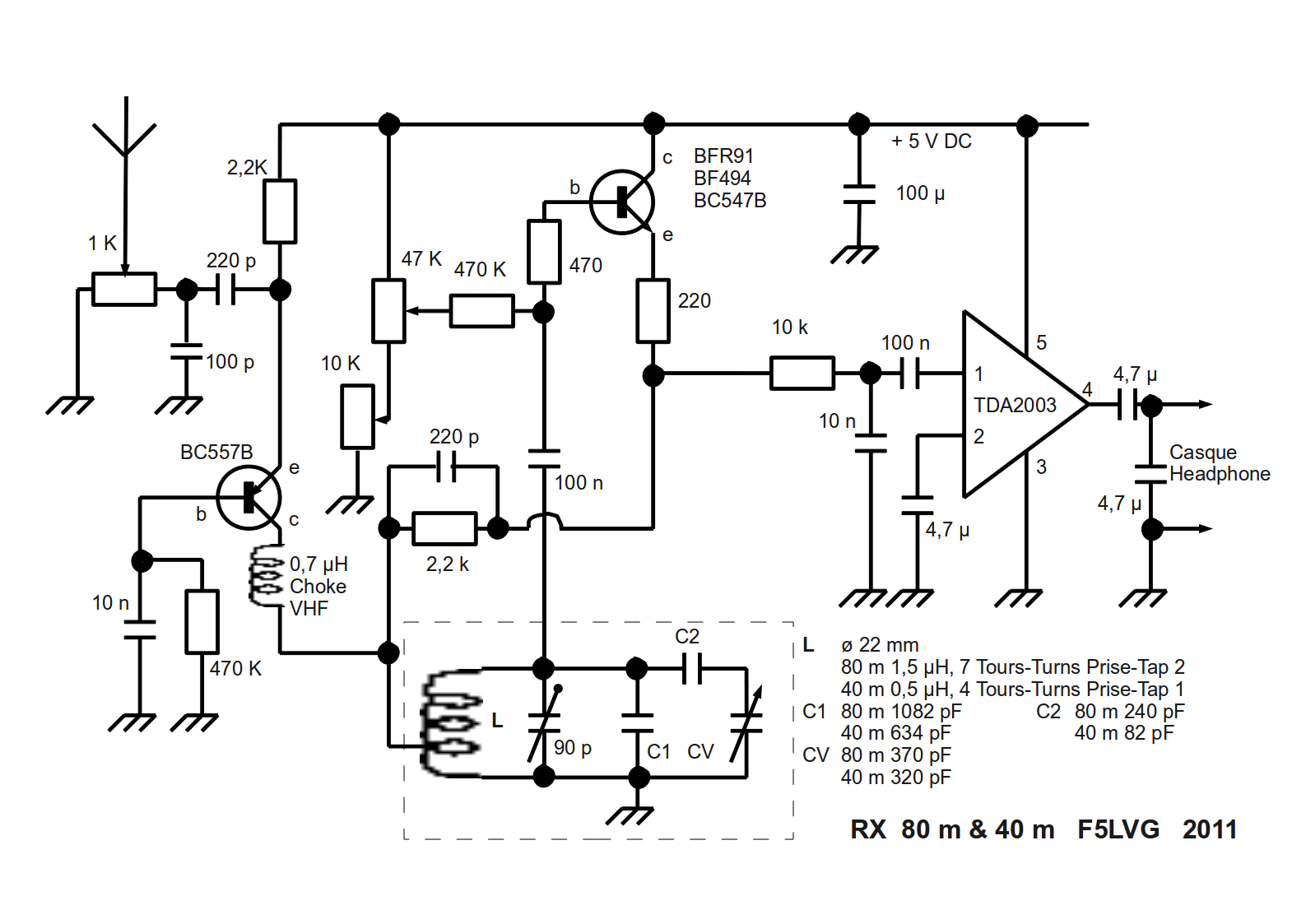 Schema Recepteur A Reaction 3 4 Amp 5 5 18 Mhz Electro Schematic