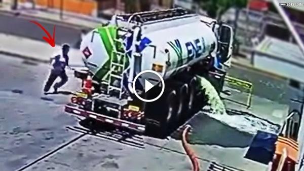 caminhão combustivel vaza posto