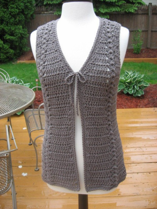 Meadows Vest with Matching Belt - Crochet Pattern