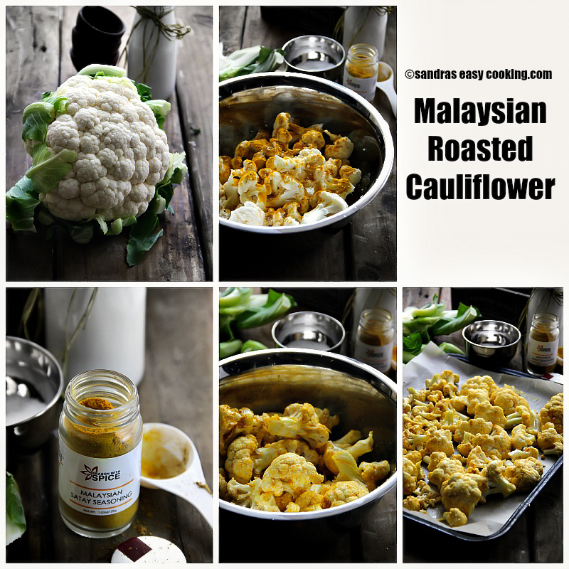 Malaysian Roasted Cauliflower #healthy #snack