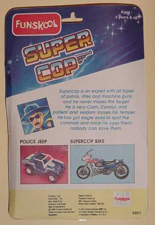 Funskool Super Cop, Carded, Filecard