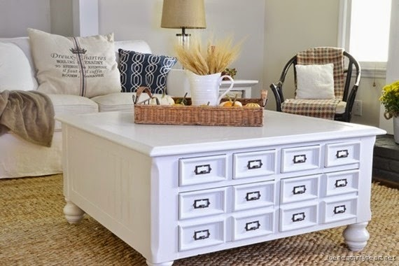 Beneath My Heart - Coffee Table Makeover