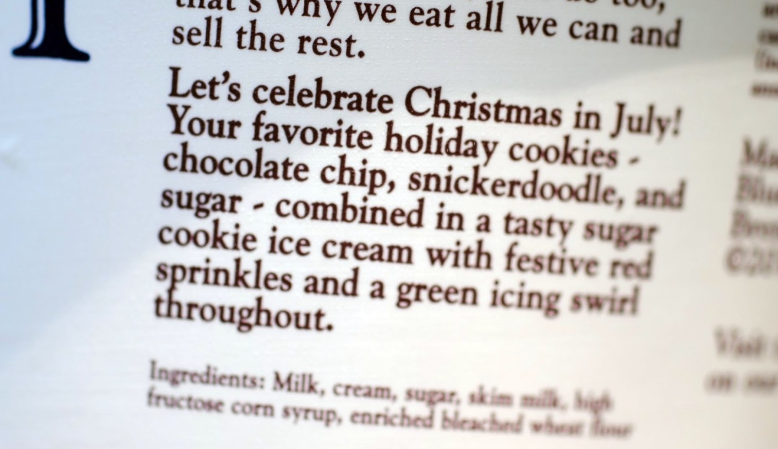 food and ice cream recipes: REVIEW: Blue Bell Christmas Cookies In July (Holiday Favorite ...