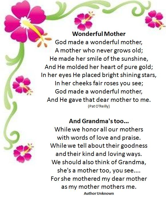 abroach images mothers day poems for kids