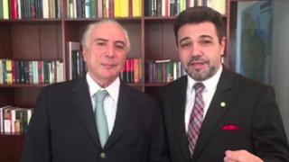 Michel Temer e seu apoiador, Marcos Feliciano