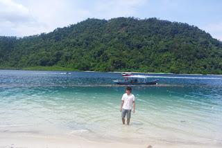 view pulau pasumpahan padang