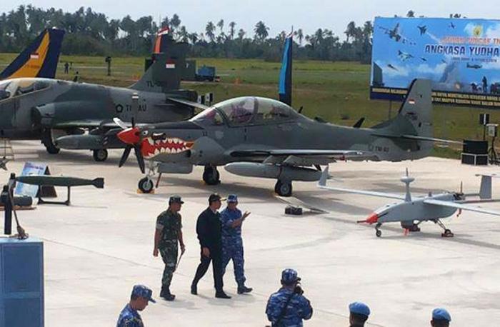 Pesawat Tempur dan UAV TNI AU, saat latihan Angkasa Yudha 2016, di Natuna, Kepri (istimewa)
