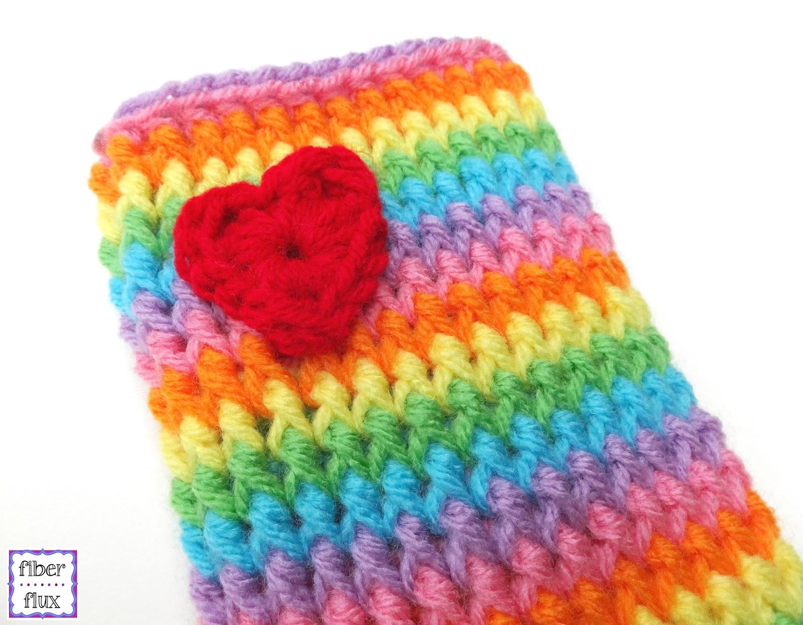Fiber Flux Free Crochet Patternrainbow Love Legwarmers