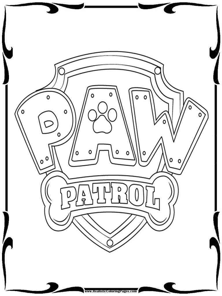 Small Paw Patrol Coloring Pages : Paw patrol badges coloring pages realistic