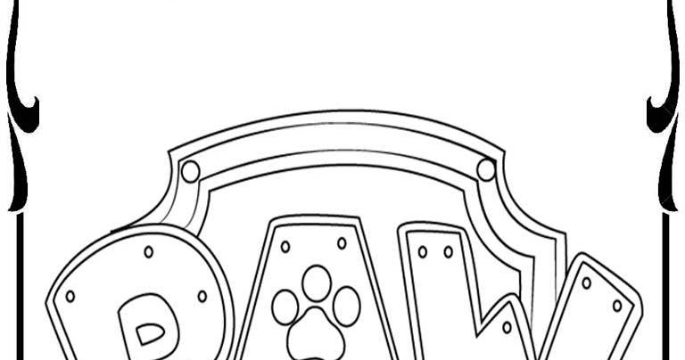 Paw Patrol Shield Coloring Pages : Paw patrol badges coloring pages realistic
