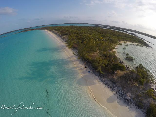 Moss Cay beach, Redshanks, Exumas, Bahamas