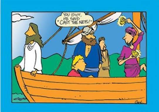 humor christian jokes cartoons clean far side funny bible jesus biblical hilarious gracias roberto sunday pun