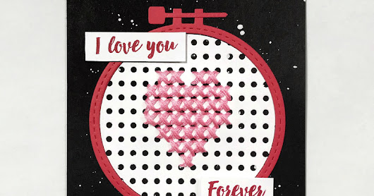 I Love You Forever, Cross Stitching Card