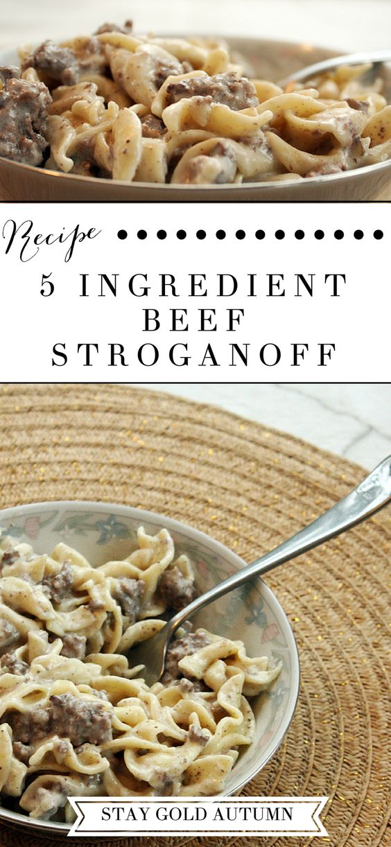 5 ingredient beef stroganoff recipe
