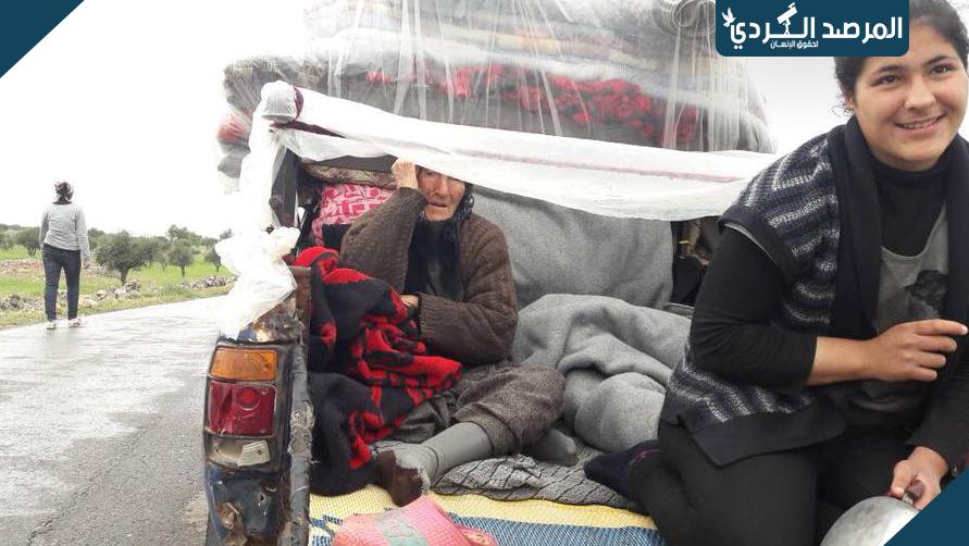 القوات التركية تحفر خندق عميق في كيمار لقطع طريق العودة لمهجري مدينة عفرين