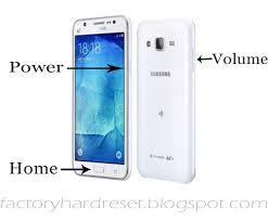 Hard reset samsung Galaxy J5