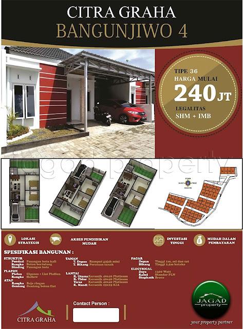 Rumah Murah Minimalis di Bangunjiwo