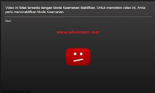 Cara Mengatasi Video ini Tidak Tersedia di Youtube