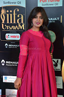 Monal Gajjar in Maroon Gown Stunning Cute Beauty at IIFA Utsavam Awards 2017 025.JPG