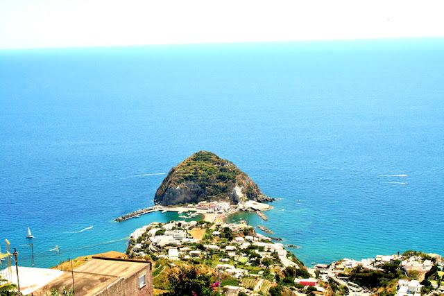 isola, panorama, Ischia, mare, acqua,barche