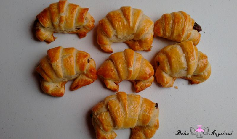 Receta de los Croissants rellenos de chocolate