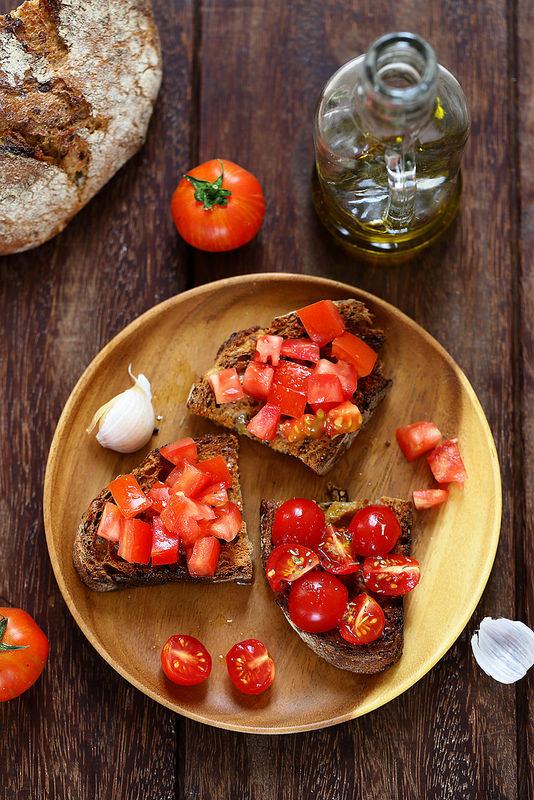 Bruschetta à la tomate