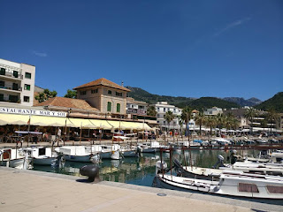 Soller bay with many boats