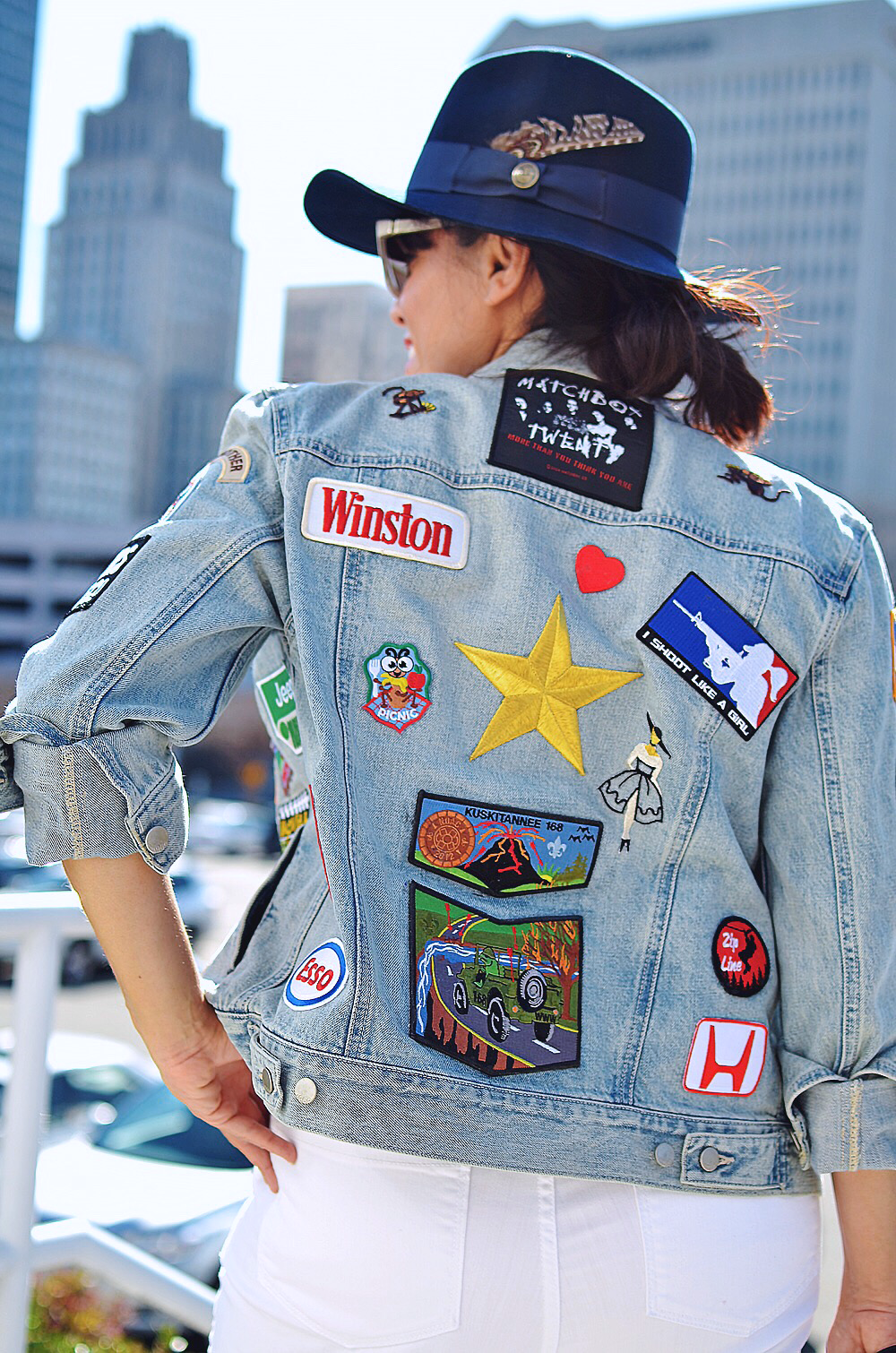 Patches on denim trend