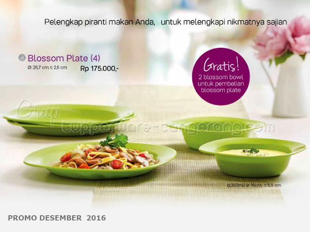 Blossom Plate Promo Tupperware Desember 2016