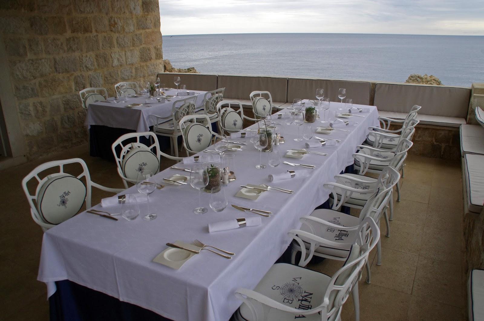 Outside private terrace Nautika Restaurant Dubrovnik
