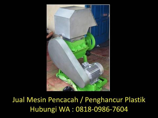spesifikasi mesin pencacah sampah plastik di bandung