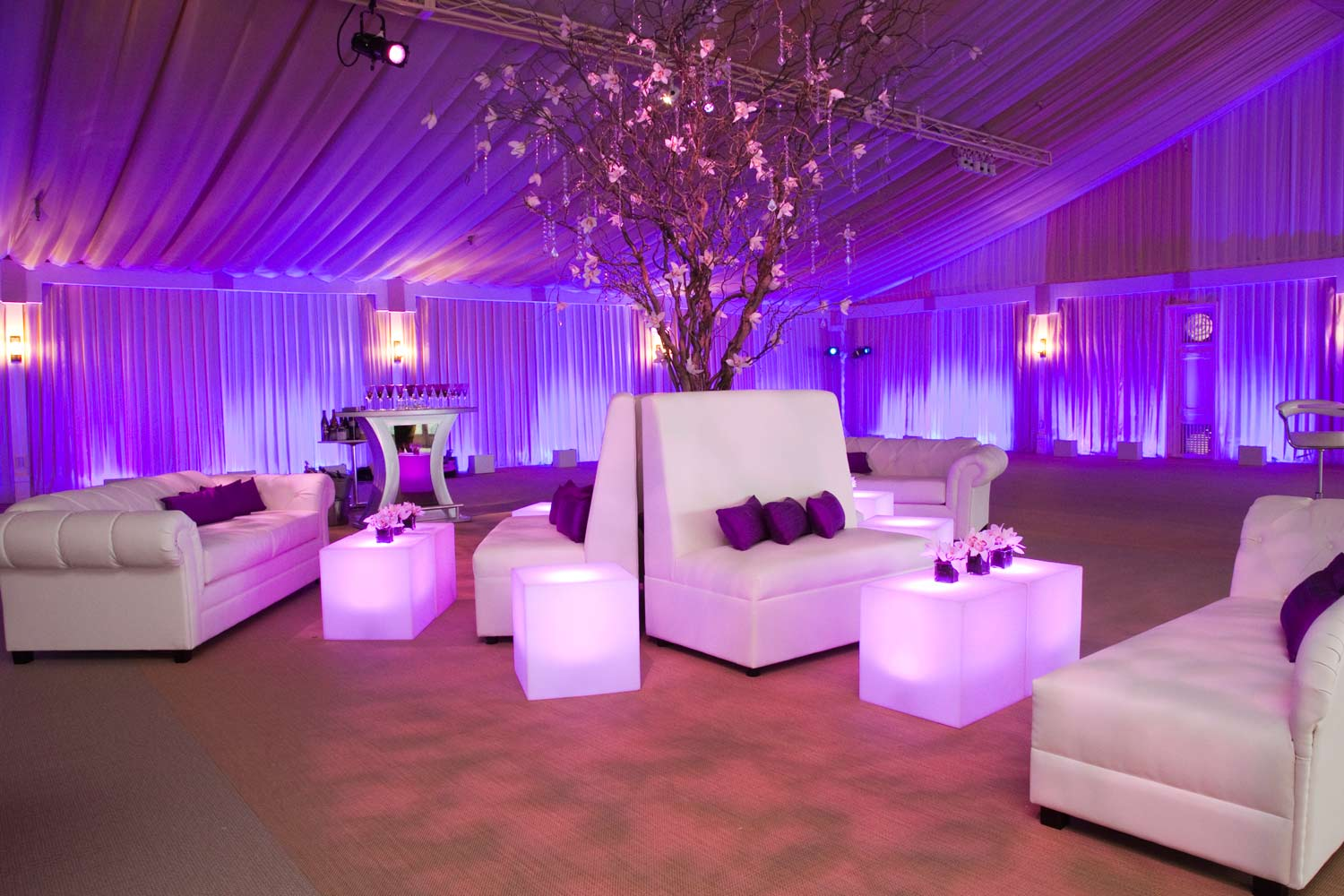 event decor furniture lounge rental party seating rentals events purple lighted led corporate theme mood trade afr june lighting outdoor