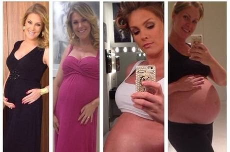 Ana Hickmann shows evolution belly
