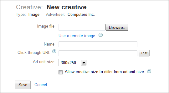 How to Create Ad creative in DFP