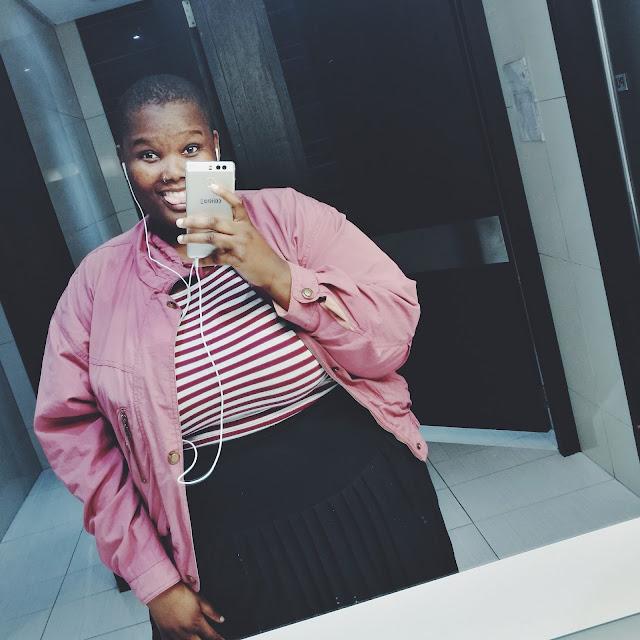 south african plus size blogger, plus size pastel look, plus size striped crop top