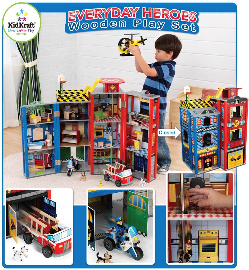 KidKraft Toys  Furniture Everyday Heroes Wooden Play Set