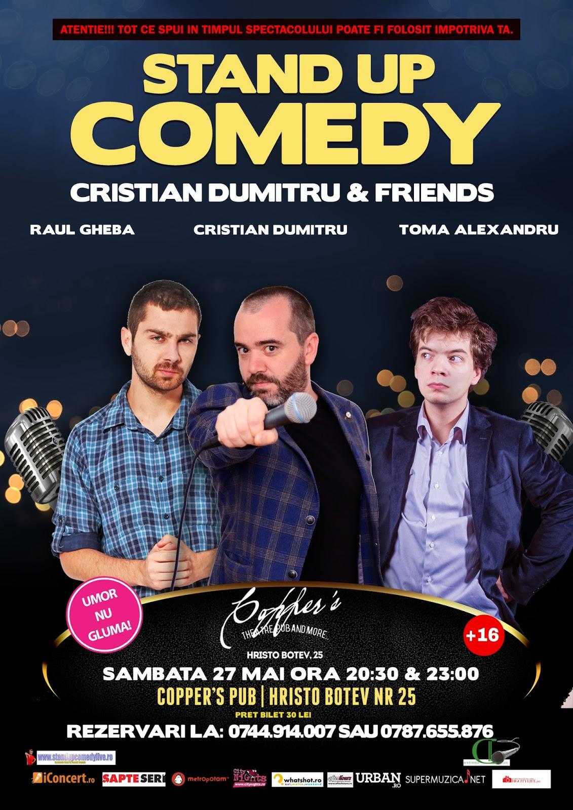 Stand-Up Comedy Sambata 27 mai Bucuresti | Doua spectacole |