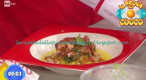 Guazzetto di totani con soffice di fagiolini e peperoni ricetta Rossi da Prova del Cuoco