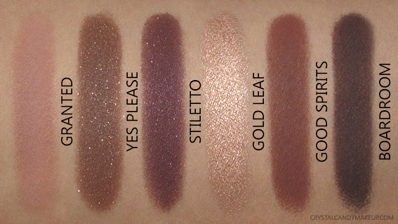 BareMinerals The Wish List Eyeshadow Palette Swatches