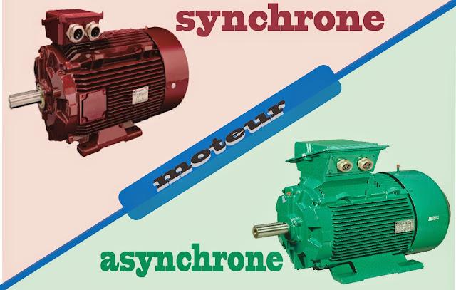 moteur synchrone et  asynchrone