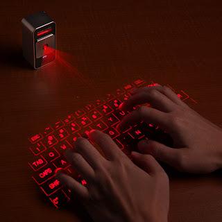 Diseño de teclado láser.