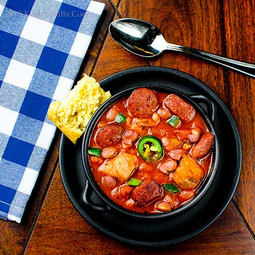 Cajun-Spiced Chicken and Andouille Chili