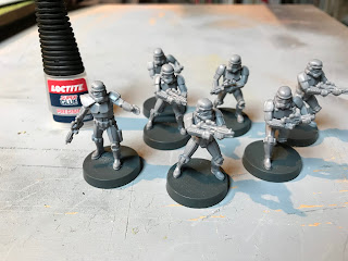 Use Superglue to make the Stormtrooper figures
